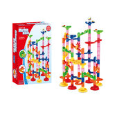 105 / 109Pcs DIY Construction Race Run Orbit Maze Balls Track Building Trendy Juguetes educativos Juguetes para niños