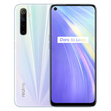 Realme 6 Global Version 6,5 inci FHD + 90Hz Refresh Rate NFC Android 10 4300mA 64MP AI Quad Kamera 8GB 128GB Helio G90T 4G Smartphone
