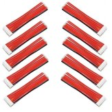 10 Piezas 2.54XH 22AWG 13CM 8S 9Pin Balance Cable Silicona Alambre para Lipo Baterías