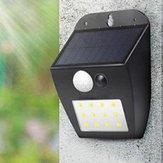 Movido A Energia Solar 12 LED PIR Movimento Sensor Parede Luz Ourdoor Jardim À Prova D 'Água Pátio Lâmpada de Segurança 3 Modos de Iluminação