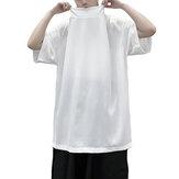 Mens Fashion Short Sleeve Casual Baggy T Shirt Punk Gothic Hip Hop Top Shirt Tee