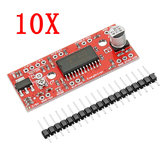 10pcs DC 7V To 30V 150mA To 750mA A3967 Easy Driver Stepper Motor Driver Board Geekcreit for Arduino - products that work with official Arduino boards
