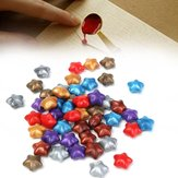 50Pcs Mixed Color Lucky Star Wax Seal Ring Pentagram Selo Acessórios