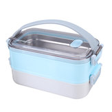 1-2 Lapisan Stainless Steel Insulated Lunch Box Penyimpanan Makanan Thermal Container