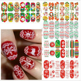 Christmas Nail Art Decoration Transfer Manicure Tipsy Kalkomanie Naklejki