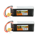 2 szt. ZOP Power 14,8V 1400mAh 65C 4S Wtyczka Lipo Battery XT60