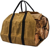 khaki Firewood Carrier Log Carrier Wood Carrying Bag for Fireplace 16oz Waxed Canvas