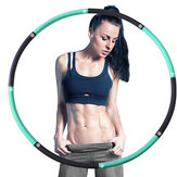 8-Sections Weighted Exercise Hoop for Adults, Folding Detachable Fitness Hoops Exercise Workout Slimming Ring