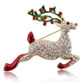 Cristallo colorato regalo di Natale campana alci pin spilla di Natale pupazzo di neve