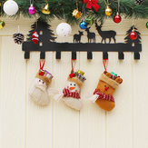 Kerstmis Candy Bag Stukje Mini Santa Claus Sock Gift Bauble Kerstboom Ornamenten Decorati