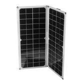 2Pcs 10W 14V Silicon monocristalino Solar Panel Suppot Dual USB / Conexión en paralelo / IP65 Impermeable