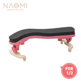 NAOMI Violin Shoulder Rest Adjustable 1/2 Violin Shoulder Rest Plastic For 1/2 Violin Pink Violin Parts Accessories