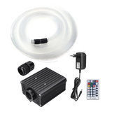 100V-240V 16W RGBW Fiber Optic LED Light Star Ceiling Kit 450Pcs 2M 0.75mm Bright Crystal