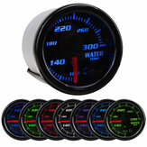 Universal 2Inch 52mm 7 Colors LED Car Water Coolant Temperature Temp Gauge Meter