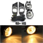 Paar539.284Mistlampenvoordevoorkant van de bumper met WiringHarness Switchlampkapjes voor Toyota Camry 07-09