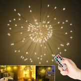 Battery Powered USB Sliver Wire 100LED Starburst String Fairy Light Holiday Wedding Party Home Decor