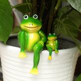 Reçine Oturan Kurbağalar Heykeli Outdoor Kurbağa Heykel Bahçe Süslemeleri Süsler