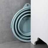 10L Portable Folding Bucket Silicon Bucket Household Laundry Storage Bucket Outdoor Fishing Round Bucket