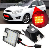 LED Charco con luz lateral inferior rojo claro para Ford Mondeo MK4 Focus Kuga Escape C-Max