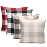 45x45cm Grid Square Pillow Case Cushion Cover Sofa Throw Home Bedroom Decor