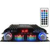 12V Car Mini HIFI Digital bluetooth amplificador de potência de áudio de quatro canais de saída com Controle Remoto