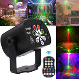 8 Holes 120 Patterns USB LED Laser Light RGB Projector Stage Strobe Lamp DJ KTV Party Lighting with Remote Control