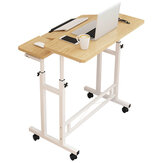 Opheffende laptoptafel In hoogte verstelbare bureau Staande computertafel met wiel Mobiel nachtkastje voor thuiskantoor