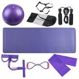 8Pcs Idoneità Esercizio Strumenti Set Yoga Ball Mat Jump Rope Resistance Banda Set
