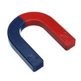 U-vormige hoefijzer magneet rood blauw geschilderde pool natuurkunde experiment les 60 mm