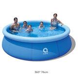 JILONG 360x76 cm 1 a 6 pessoas Piscinas com banheira inflável para crianças e adultos