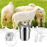 7L Elektrikli Titreşimli Sağım Makinesi Koyun Keçi için Süt Kovası Paslanmaz çelik Sütçü Vakum Pompa Kova Tarım Çiftliği