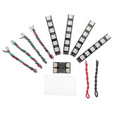 4 PCS WS2812 LED Strip Light 2-6S 7 colori commutabili con scheda controller LED per RC Drone FPV Racing