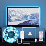 BlitzWolf® BW-LT32 2M USB RGB TV Strip Light Kit Sincronização com TV Color Screen 3 Laterais Cover para TV Vivid RGB Color Lighting Effect e Dual Simple Control Game Light