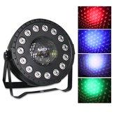 30 W RGB Luz Do Estágio 15 LED Par Lâmpada remoto Controle de Som para o Clube DJ Party Disco de Casamento de Natal AC90-240V