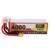 ZOP Power 22.2V 4000mAh 100C 6S Lipo Bateria XT60 Plug para FPV RC Drone