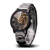 ファッション  ギアホイール  メンズクォーツ時計  クリエイティブ  不規則パターン  ダイヤルウォッチ