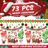 New Year Christmas Balloons Christmas Flags Christmas Letter Banner Santa Claus Spiral Photograph Props