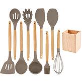 Kitchen Silicone Set di utensili per spatole antiaderenti per la cottura di gadget da cucina Strumenti