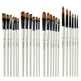 6Pcs Nylon Painting Brush Art Drawing Watercolor Brush Soft Different Head Size Painting Brush Supplies