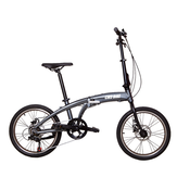 CMSBIKE CMSBS-20 20 Inch Mini Folding Bike 6 Speed Derailleur Double Disc Brake Suspension Cycling Bicycle
