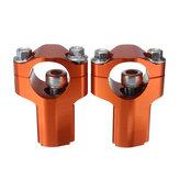 28mm Riser Sollevatore Supporto Fissaggio di Manubrio con Altezza da 52mm per Moto Dirt Bike KTM 125-530cc SX/EXC