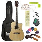 IRIN 41 дюймов Панель из ели с узорчатыми углами Акустическая гитара