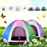 1-6 People Outdoor Camping Tent Tourist 4 Seasons Family Travel Beach Camp Tent Easy Open Garden Sunscreen Tent