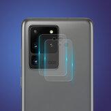 Enkay 2PCS Anti-Scratch 9H 0,2mm Ultra-Fino HD Vidro Temperado Transparente Protetor de Lente de Câmera para Telefone para Samsung Galaxy S20 Ultra