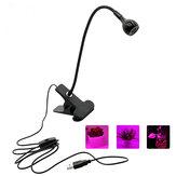 HuishoudelijkeLEDGrowLightmet360 graden flexibele Clip USB-voeding Groeiende lamp voor Indoor Bonsai Planting