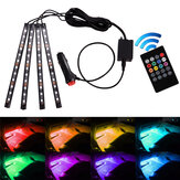 12V/5V LED Colorful Atmosphere Lamp One For Four Voice Control With Infrared Remote Control
