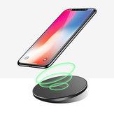 Bakeey 10W QI Cargador inalámbrico Pad de carga rápida para Samsung para iPhone Huawei
