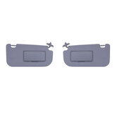 Driver & Passenger Side Front Sun Visor Shade W/ Mirror For Kia Sportage 2005-10