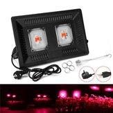 100 W Su Geçirmez Tam Spektrum LED Büyümek Işık Çift Kafa Asılabilir COB Bitki Lamba 110/220 V
