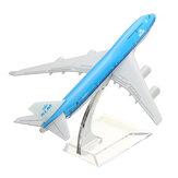 Nuovo aeroplano giocattolo scrivania scala aeromodelli aereo metallo B747 KLM aereo 16 centimetri aereo